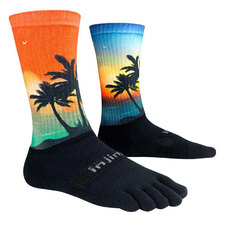 Injinji Trail Mid-Weight Crew Picture Toe Sock