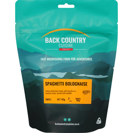 Back Country Cuisine Freeze Dried Meal - Small Spaghetti Bolagnaise
